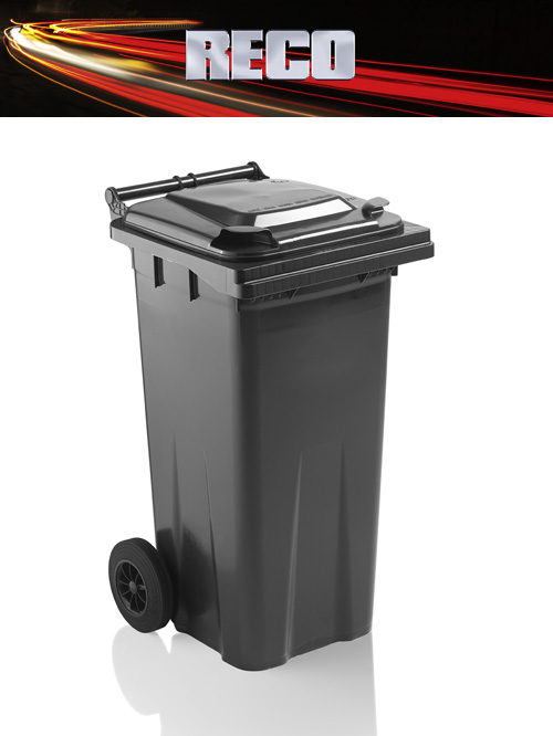 Grey 120 Litre Wheelie Bins
