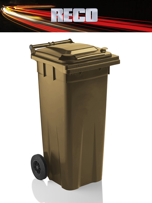 Brown 140 Litre Wheelie Bins