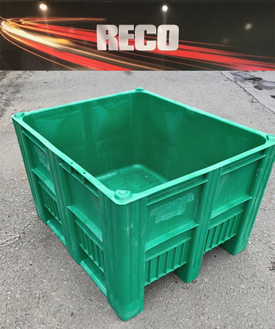 Used Dolav Plastic Pallet Boxes Green