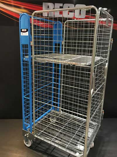 New 4 Sided Mesh A Frame Nestable Roll Cage Blue Trombone