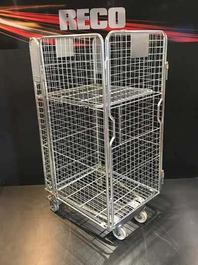 New 4 Sided Mesh A Frame Nestable Roll Cage