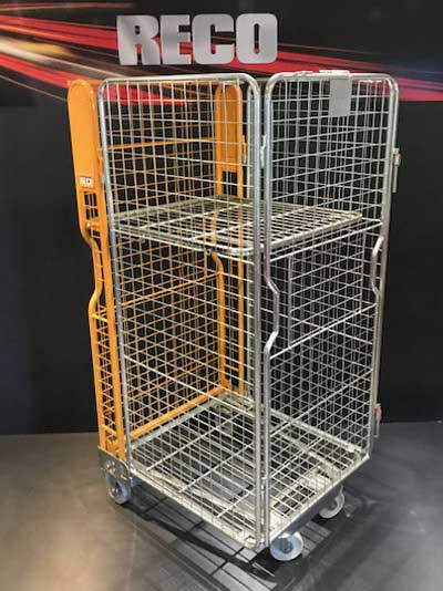 New 4 Sided Mesh A Frame Nestable Roll Cage Yellow Trombone