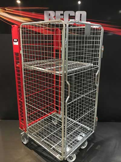 New 4 Sided Mesh A Frame Nestable Roll Cage Red Trombone