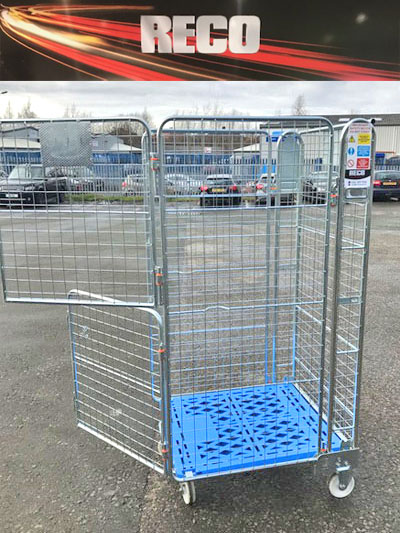 Used Stable Door 4 Sided Mesh Roll Cages Roll Containers